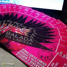 Convites para a Balada da Larissa! #PadrãoContainer
