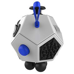 Fidget Dodecagon - 12 Sided Fidget Cube Relieves Stress and Anxiety - Toy Increases Focus and Attention for Children and Adults with ADHD, ADD OCD, and Autism (White)