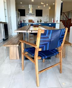 """""""Staying home during this time just got nicer with the arrival of our @masayaco Chontales dining chairs!"""" We're so glad we could help make your home more enjoyable 🏡  @dmj_iah Dining Room Furniture, Outdoor Furniture Sets, Dining Chairs, Outdoor Areas, Outdoor Chairs, Outdoor Decor, Midnight Blue, Contemporary Design, Teak"""