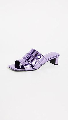 JEFFREY CAMPBELL | Rhymes Metallic Slide Sandals #Shoes #JEFFREY CAMPBELL