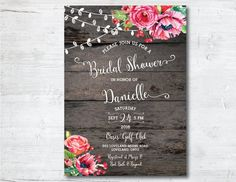 rustic bridal shower invitation printable bridal shower invitation string of lights bridal shower