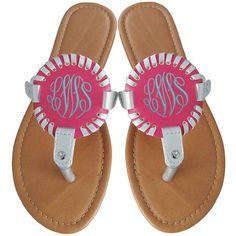 c2bbcb60574 New Monogram Sandals Medallion Flip Flops Monogram Sandals Monogram...  ( 21) ❤. Silver SandalsSilver ShoesSilver ...