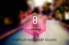 8 Premium Amazing Color Boost Photoshop Actions by ONESMFA on Etsy, $8.00