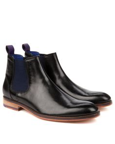 Leather chelsea boot - Black | Shoes | Ted Baker
