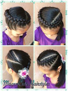 Dutch Braid Hairstyle🌸 Fancy Hairstyles, Trending Hairstyles, Little Girl Hairstyles, Braided Hairstyles, Divas, Girl Hair Dos, Natural Hair Styles, Long Hair Styles, Girls Braids