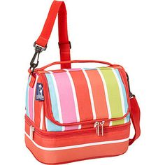 Wildkin Bright Stripes Double Decker Lunch Box