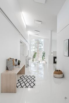 marble flooring Marble Floor Designs For Home - Hercottage Minimalist Interior, Minimalist Home, Home Interior Design, Interior Styling, Floor Design, House Design, Hallway Light Fixtures, Hallway Lighting, Granite Flooring