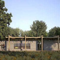 A Casa Areia (CA), localizada em Trancoso-BA, é projeto do @studiomk27, com estrutural da #inner, gerenciamento da #scconsult e execução da @krossengenharia.  Maiores informações no site: www.grconsultoria.co  #valorarquitetônico #concretocolorido #concrete #exposedconcrete #coloredconcrete #architecture #hormigonvisto #caravista #hormigoncoloreado #beton #073 #trancoso #bahia #studiomk27 #inner #scconsult #kross Studio Mk27, Photo And Video, House Styles, Plants, Instagram, Log Projects, Houses, Plant, Planets