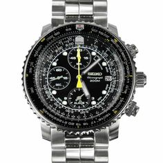 Seiko Men's SNA411 Flight Alarm Chronograph Watch Review
