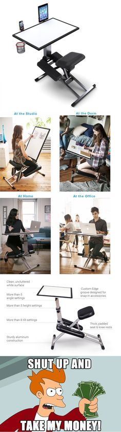 New portable desk design, just wow! - 9GAG