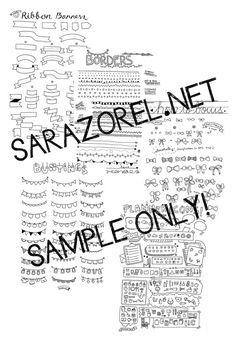 Doodle with Me : Printables Set A  Borders Banners by Sarazorel