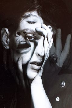 This photo shows Disorder because many faces of this woman gives the viewer perception of their distress.