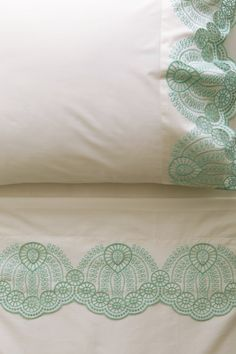 I just love anything to make my bed soft and inviting... Eyelet Embroidered Sheet Set - #Anthropologie #PinToWin