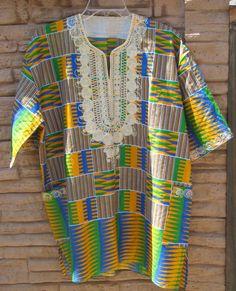 AFRICAN vintage unisex shirt... dashiki... by HeritageAndHeart, $36.00