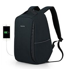 Hanke Anti-Theft Waterproof Business 14inch Laptop School Backpack With USB Charging Port