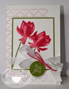 Yvonne is Stampin´ and Scrapping.: We sluiten het jaar af met. Homemade Greeting Cards, Homemade Cards, Atc Cards, Stampin Up Cards, Valentine Love Cards, Valentines, Lotus Candle Holder, Thanks Card, Creative Cards