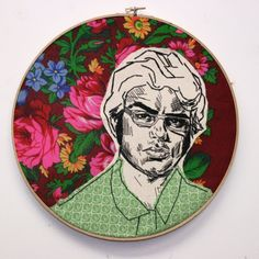 OMG-inducing embroidery of Jemaine Clement by 365 Lucky Days.