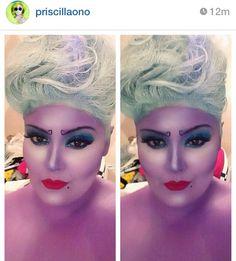 Awesome Ursula Halloween makeup! By Pricilla Ono