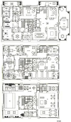 57 New Ideas Apartment Penthouse Floor Plan Architecture Castle House Plans, House Plans Mansion, Dream House Plans, House Floor Plans, Hotel Floor Plan, Luxury Floor Plans, Layouts Casa, House Layouts, Architectural Floor Plans