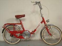 The folding bike is an Italian made Amica by Carnielli.