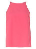 Womens Pink Satin Camisole Top- Pink