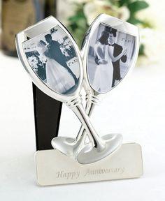 Anniversary Toasting Glasses Frame
