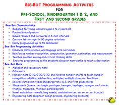 Bee-Bot Programming Activities for Young Learners