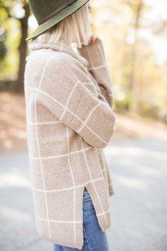 Madewell Windowpane Turtleneck Sweater - Poor Little It Girl