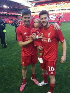 Steven Gerrard and Adam Lallana