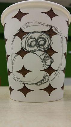 Art on Cups, bardakta çizim. Cold, hot chocolatte. Grip ve sıcak çikolata.