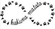 Disney Hakuna Matata Infinity Family Decal Car Window Sticker Wall Vinyl Funny