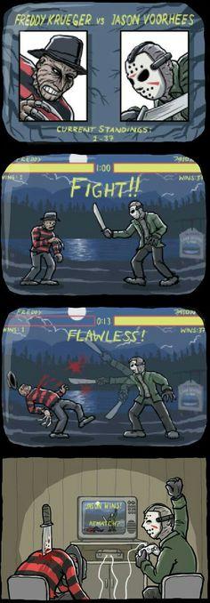 FREDDY V JASON COMPUTER GAME FIGHT!