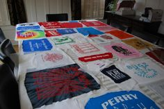 T-shirt quilt step by step