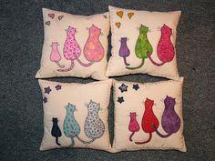 cat cushions by MezCat, via Flickr