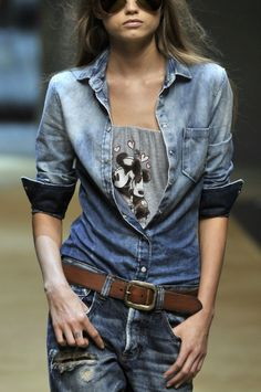 #denim on #denim #boyfriend #ripped #jeans #trend #ss13 #vaqueros #rotos #tendencia #verano #primavera #2013