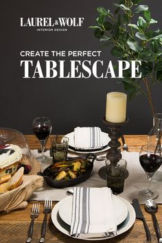 The perfect dinner party requires quite a few inspiration boards, from recipes to dining room design to party decor. Pull it all together with the help of a Laurel & Wolf Interior Designer. Learn more here at laurelandwolf.com!
