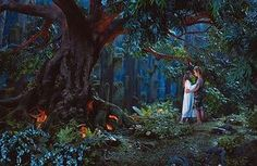 Maybe outside with a big tree and lots of plants and foliage. Perfect for wedding photos! | Peter Pan (2003)