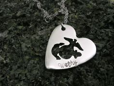 Sterling Silver Marine Wife Marine Girlfriend by CharmletteDesigns, $48.00