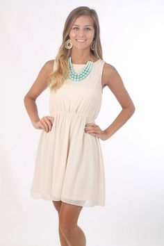 Just Dip It Dress, ivory $44 www.themintjulepboutique.com
