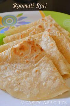 Tasty Appetite: Rumali Roti / Roomali Roti / Easy step by Step