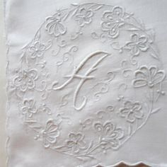 embroidered monograms - Google Search