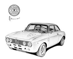 Giulia GTA M 1970 #maxrobino #vintagecar #alfaromeo #automotiveart #drawing
