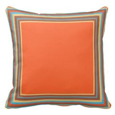 "Coral Turquoise 1x1 Stripe Image Window Custom Throw Pillows  16""  28.95    20"" 48.95"