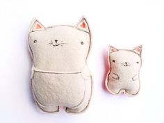 Kata Golda Plush Pal with baby (tooth fairy pillow) - Cat