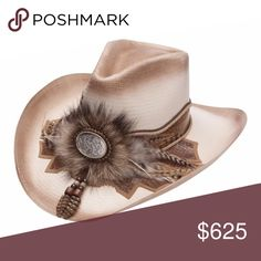 46ccc039 Prairie Dog Sweated straw hat with pinch front crown and elaborate hat band  with rattlesnake skin