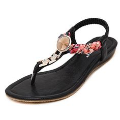 fd76c9fb92be7 Bohemia Bead Flower Metal Weave Crystal Slip On Clip Toe Flat Sandals is  comfortable to wear. Shop on NewChic to see other cheap women sandals on  sale.
