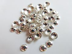 50 x Simple Round Brass Bead Caps Endbeads by KingfisherSparkles