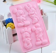 Mickey And Minnie Cake Mold Soap Mold Silicone by sweetkitchen11