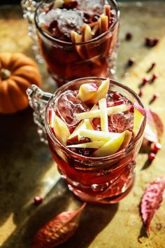 Spiced Apple Cider Pomegranate Moscow Mules