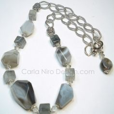 I checked out Swarovski Botswana Agate Necklace on Lish, $90.00 CAD Agate Necklace, Swarovski, Bracelets, Silver, Jewelry, Jewlery, Jewerly, Schmuck, Jewels